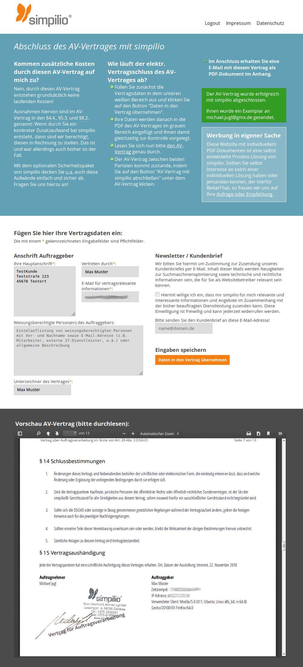 Auftragsverarbeitungs Vertrag Burosoftware Meinburo 0