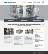 Anchor Lamina mit neuem Webdesign in Chemnitz