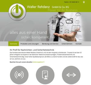 Business Webdesign für die Firma Walter Rehdanz GmbH & Co. KG…