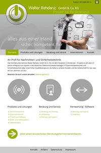 Business Webdesign für die Firma Walter Rehdanz GmbH & Co. KG