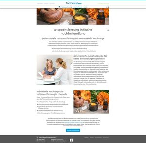 Unterseiten Layout Webdesign tattoofrei Chemnitz…