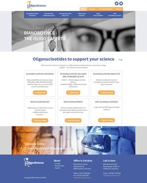 Webdesign BianoScience GmbH…