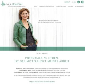 Webdesign Nele Honecker Coaching…