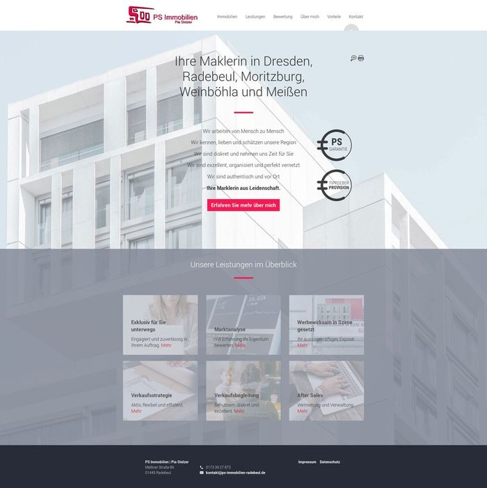 Webdesign PS Immobilien Radebeul