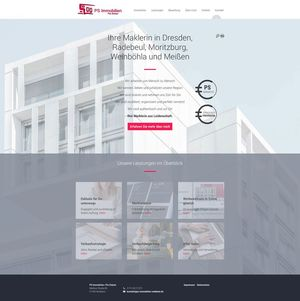 Webdesign PS Immobilien Radebeul…