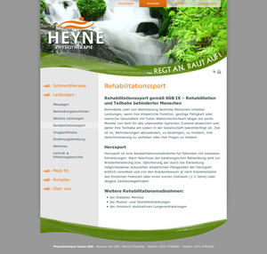 Webdesign Physiotherapie Heyne…