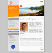 Webdesign Physiotheraphie, Osteopath: Frank Jugl