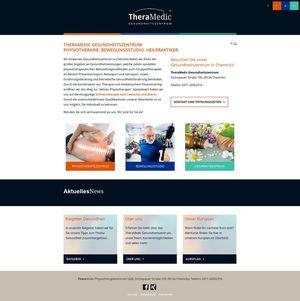 Webdesign für die Physiotherapie TheraMedic…