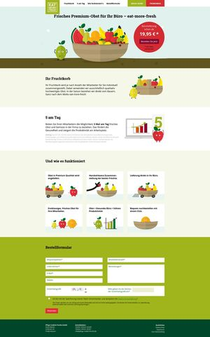 Webdesign für eat-more-fresh…