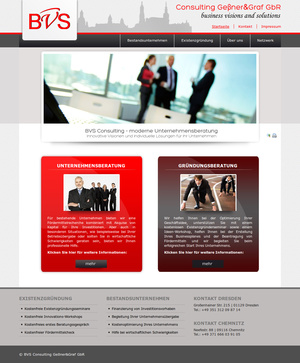 Website BVS-Consulting Startseite…