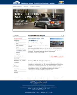 Website-Erstellung AKW Automobile GmbH…