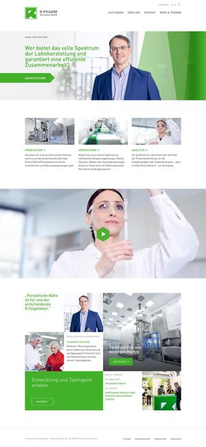 Website von R-Pharm Germany…