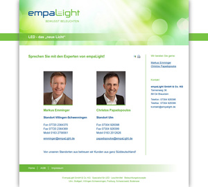 Webdesign Neu-Ulm empaLight GmbH & Co. KG…